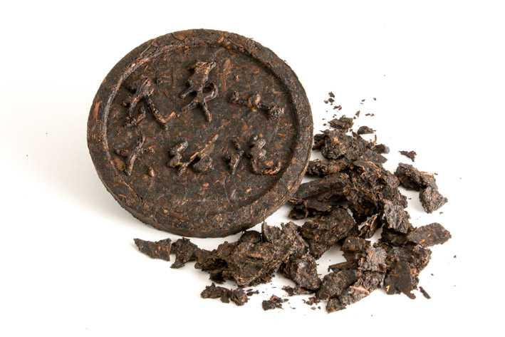 Archivní Ta Chung Pchao neboli Velké šarlatové roucho - koláček a list
