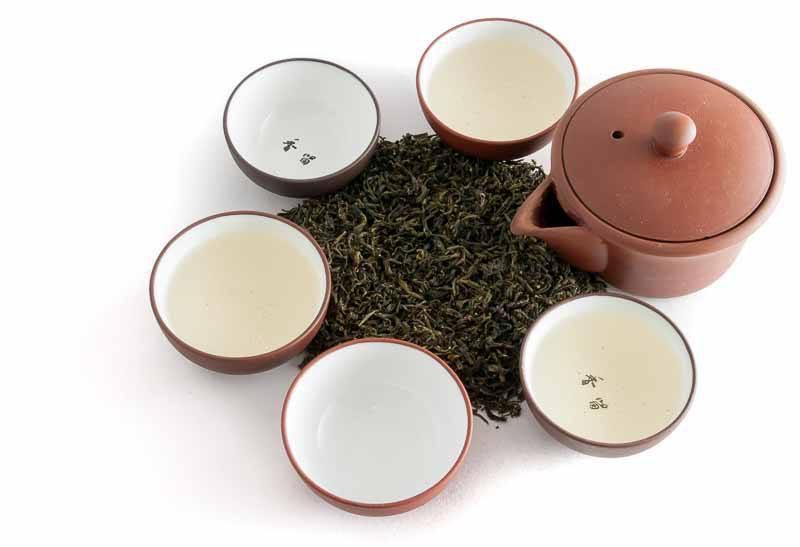 Zelený čaj z nepálského Ilamu - zátiší