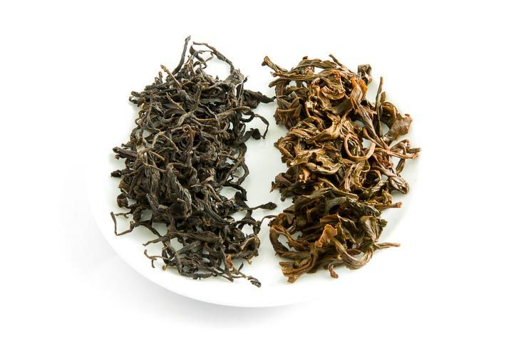 Gruzínský čaj od paní Ivanišvili - suchý a mokrý list