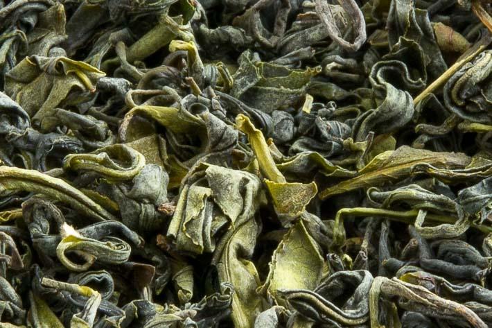 Gruzínský čaj od pana Iliji - detail listu