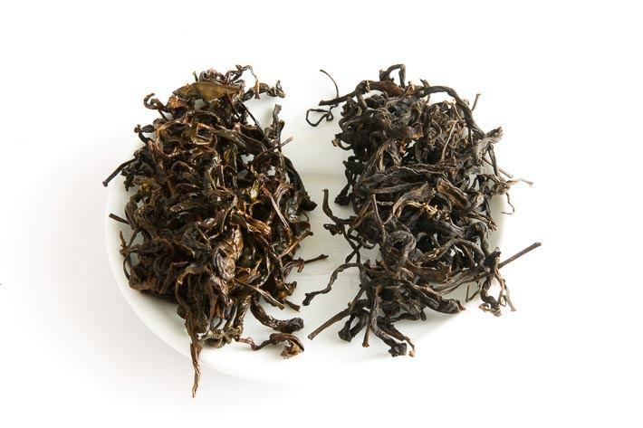 Ručně rolovaný čaj z gruzínského Chakvi - suchý a mokrý list