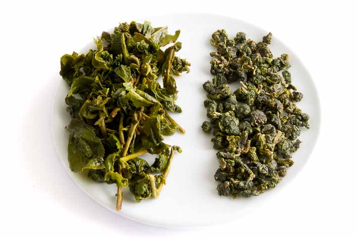 Kuej chua čcha - suchý a mokrý list
