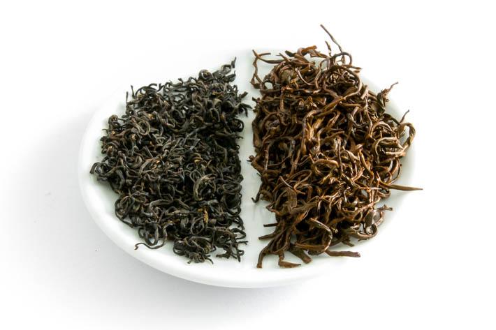Keemun Hong Xiang - suchý a mokrý list