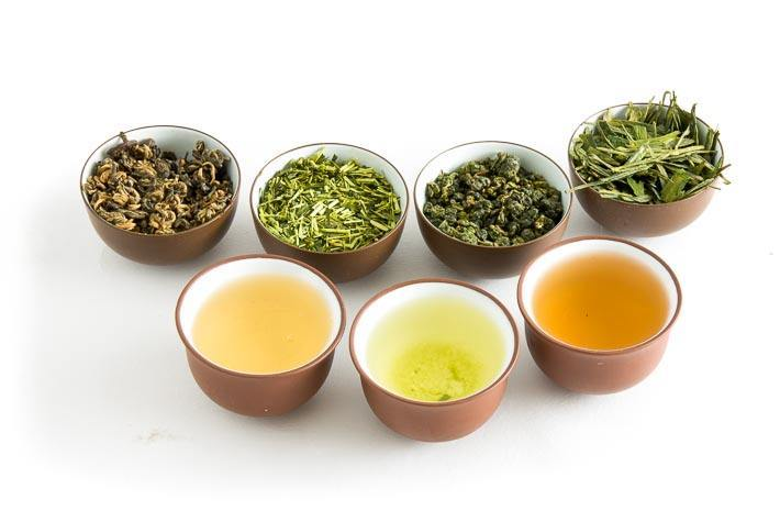Šálky s čaji
