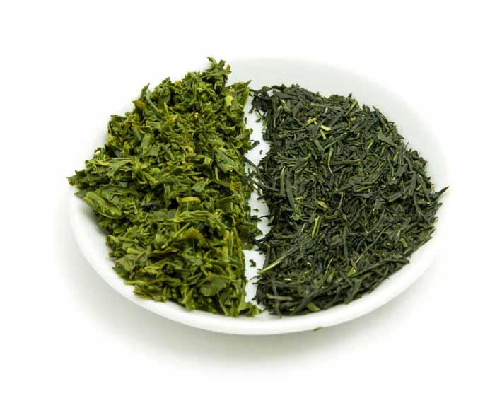 Tamaryokucha - suchý a mokrý list