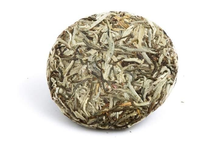 100g koláček bílého puerhu Ping Cha