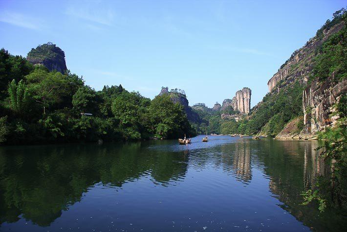 Krajina v pohoří Wu-i
