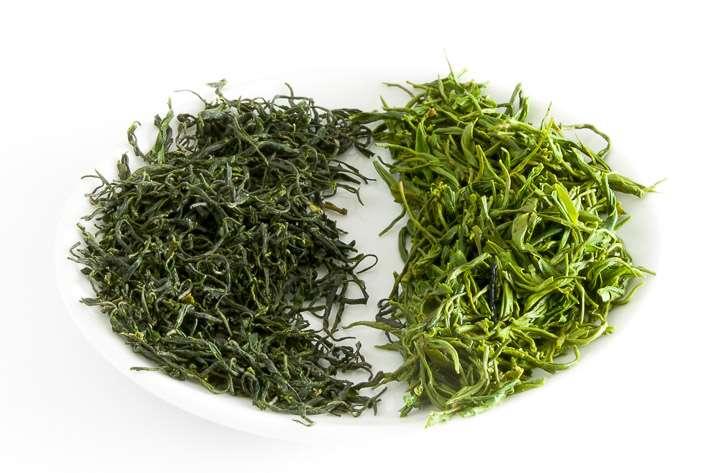 Zelený nefrit - suchý a mokrý list