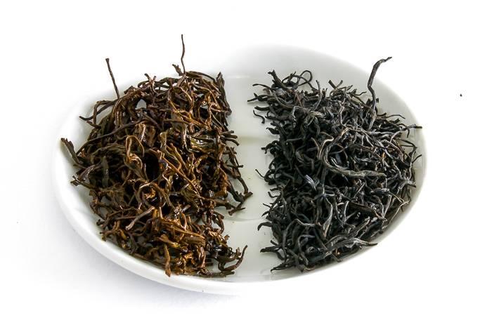 Zheng Shan Xiao Zhong - suchý a mokrý list